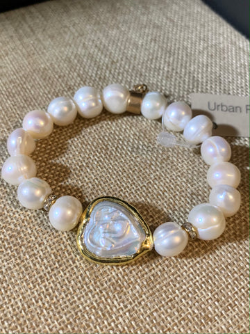 On Sale -Baroque Pearl Bracelet