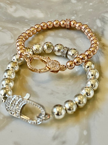 On sale Silver and rose gold bracelets