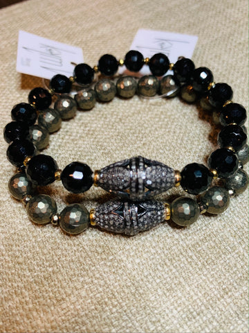 On Sale Pyrite and or Spinel Diamond Bracelets