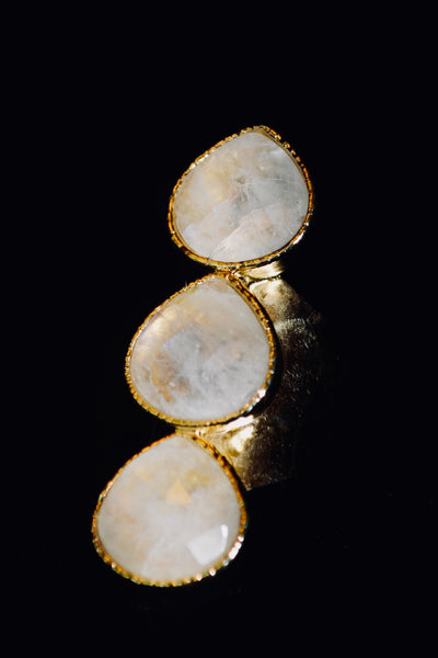 3 Stone Moonstone Ring - SOLD OUT
