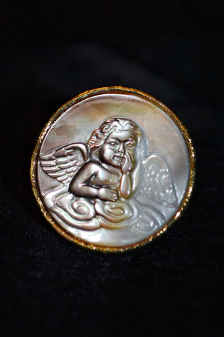 Mother Of Pearl Angel Ring