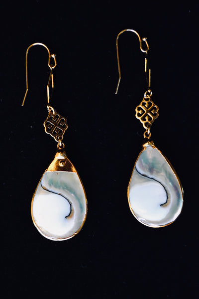 Dangle Mother Of Pearl Earrings.
