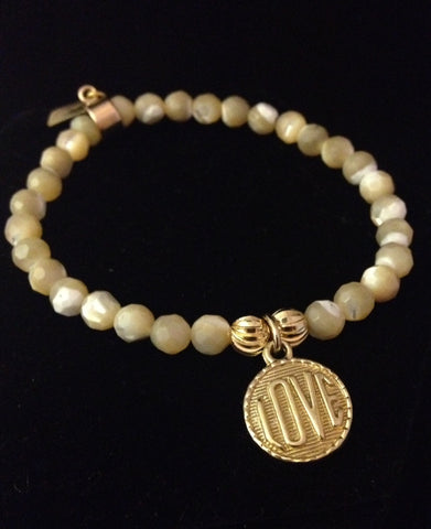 Mother of Pearl Love Bracelet