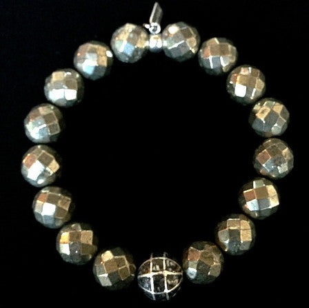 Men's Pyrite with Black Diamond
