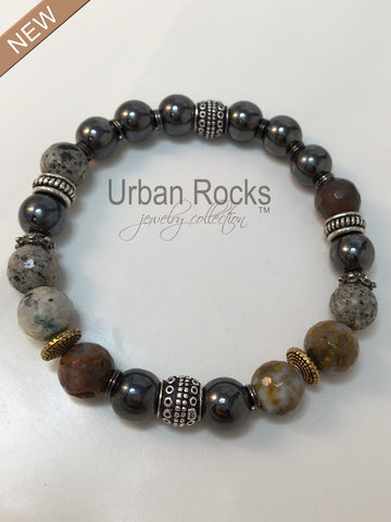 Men's Multi Gemstone Bracelet