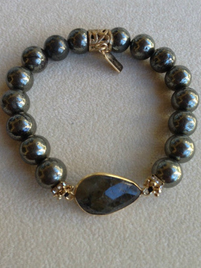 Pyrite with Hepanite Bezel
