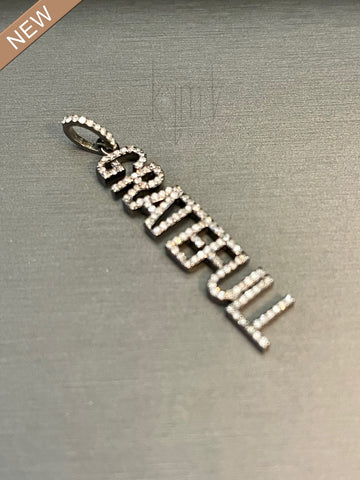 Pave Diamond Grateful Charm