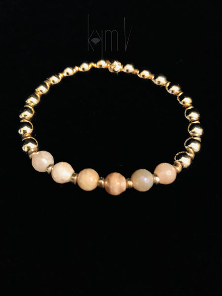 Cheerful Pink Moonstone Bracelet