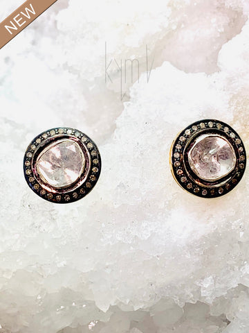 Ross Lice Diamonds and Pave Diamond Studs