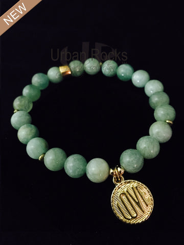 Greenish Aquamarine Love Bracelet