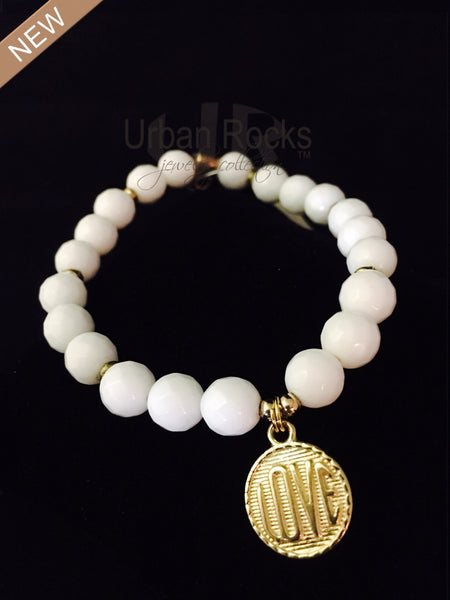 White Jade Love Bracelet