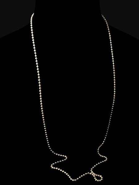 Silver Long Layering Necklace