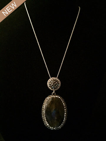 Turkish Labradorite Thin Chain Necklace