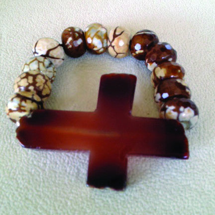 Nude Agates with Chunk Agate Cross