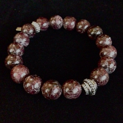 Men's Purple Bronzite Bracelet
