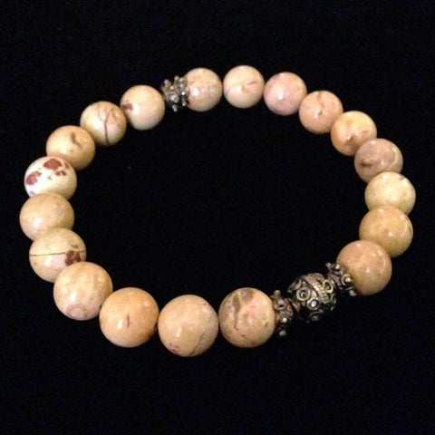 Men's Multi-Colored Agate Bracelet
