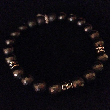 Men's Onyx with Crystal Bracelet