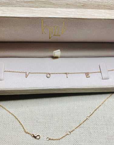 14k Gold Petite Love Diamond Necklace