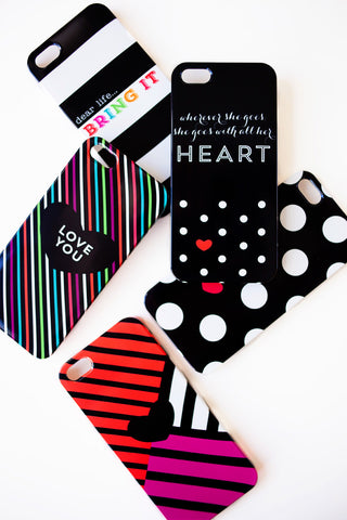 All Her Heart Black Phone Case