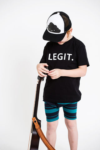 Boys LEGIT Black Tee