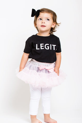 Girls LEGIT Black Tee