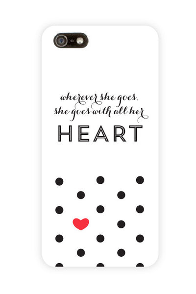 All Her Heart White Phone Case