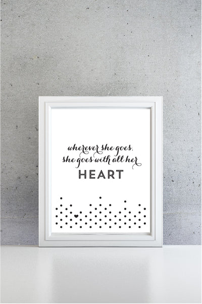 All Her Heart Art Print
