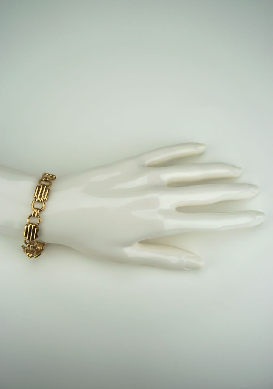 Art Deco 18k yellow gold link bracelet 1930s
