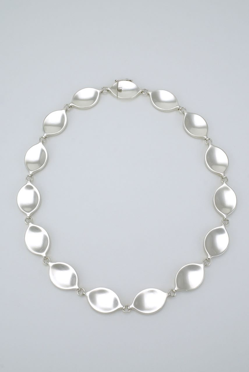 Georg Jensen modernist silver link necklace - design 171