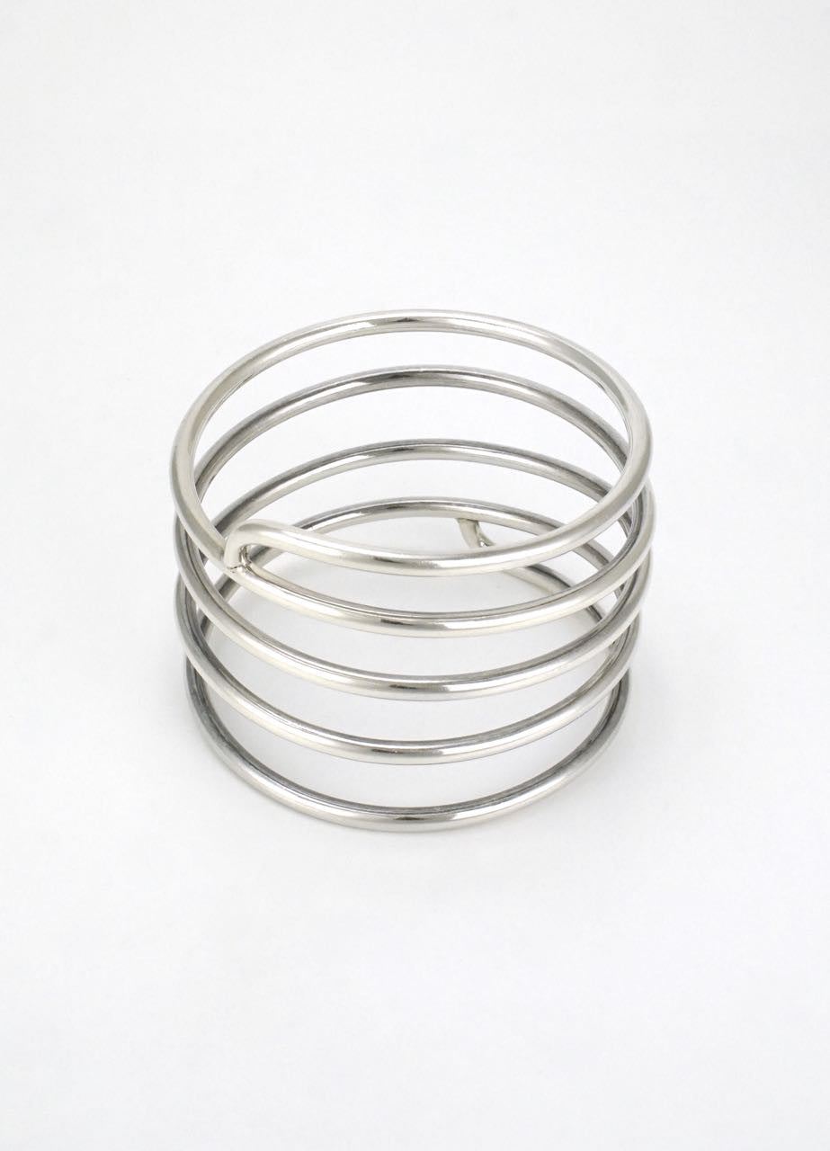 Bent Knudsen silver spiral bangle - design 216