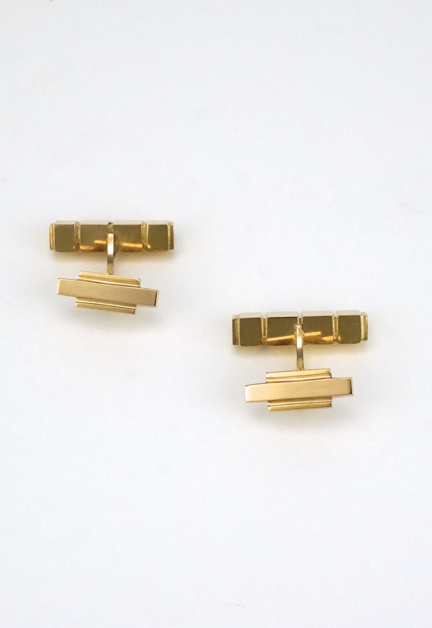 Vintage Georg Jensen 18k yellow gold cufflinks - design 1064C Henry Pilstrup