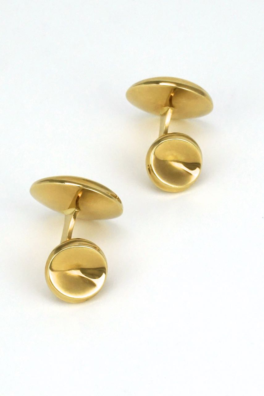 Georg Jensen 18k yellow gold cufflinks - design 1074C Nanna Ditzel