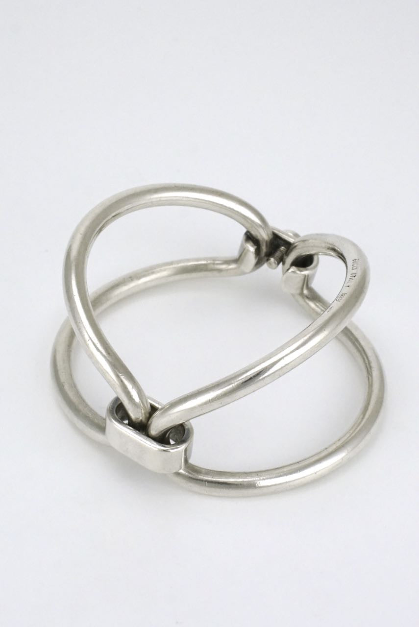 Gucci 1960's silver double loop bracelet