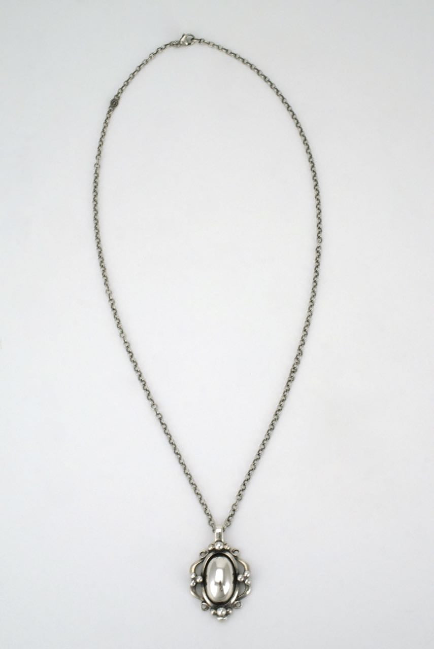 Georg Jensen silverstone pendant necklace - Heritage collection 1989