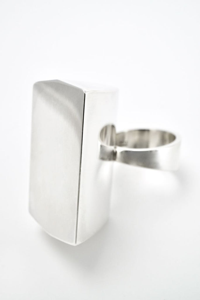 Vintage Georg Jensen Sterling Silver Block Ring - Design 158 Astrid Fog