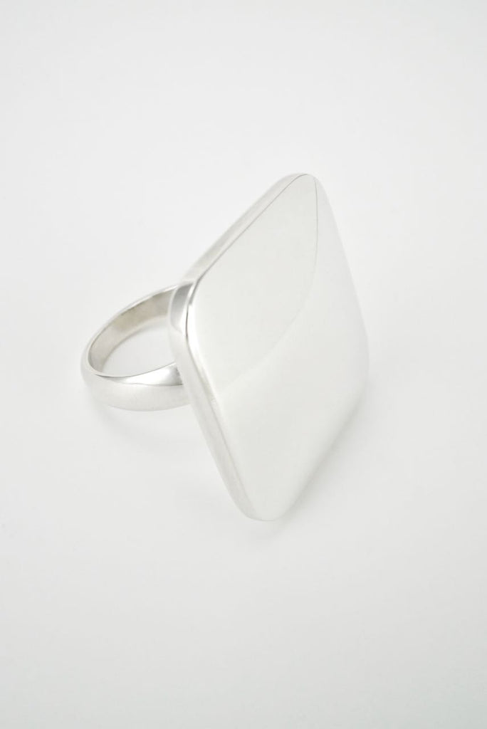 Georg Jensen Sterling Silver Square Ring - Design 182 Astrid Fog