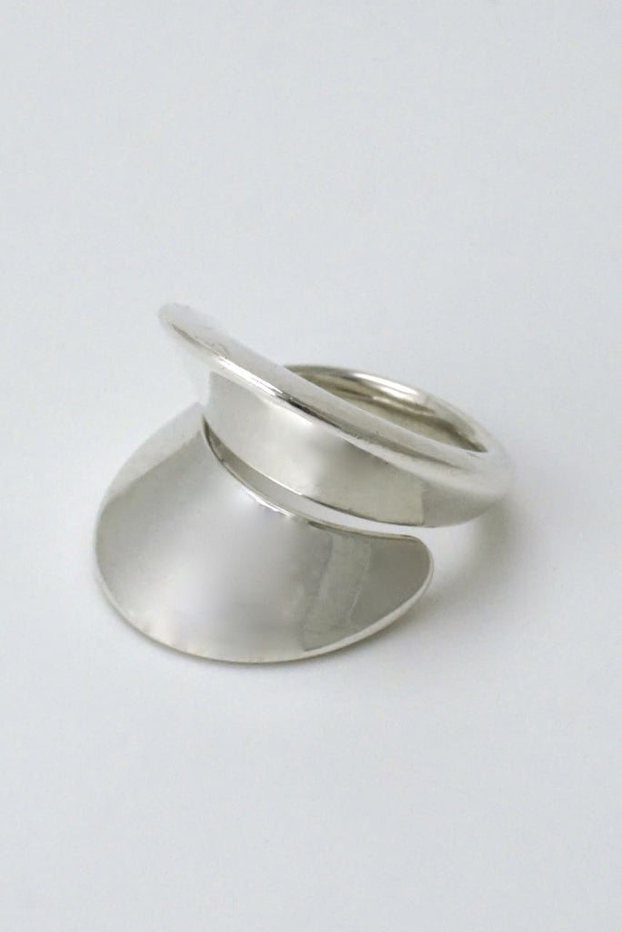 Georg Jensen silver double curve wrap ring - design 93 Nanna Ditzel