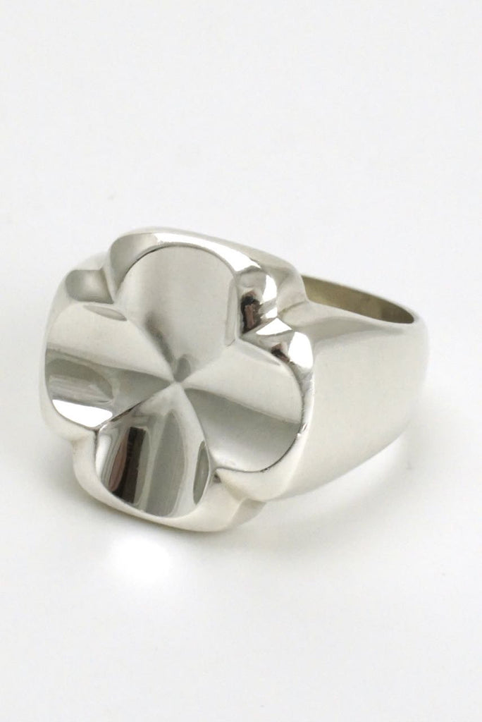 Georg Jensen large silver cross ring - design 316