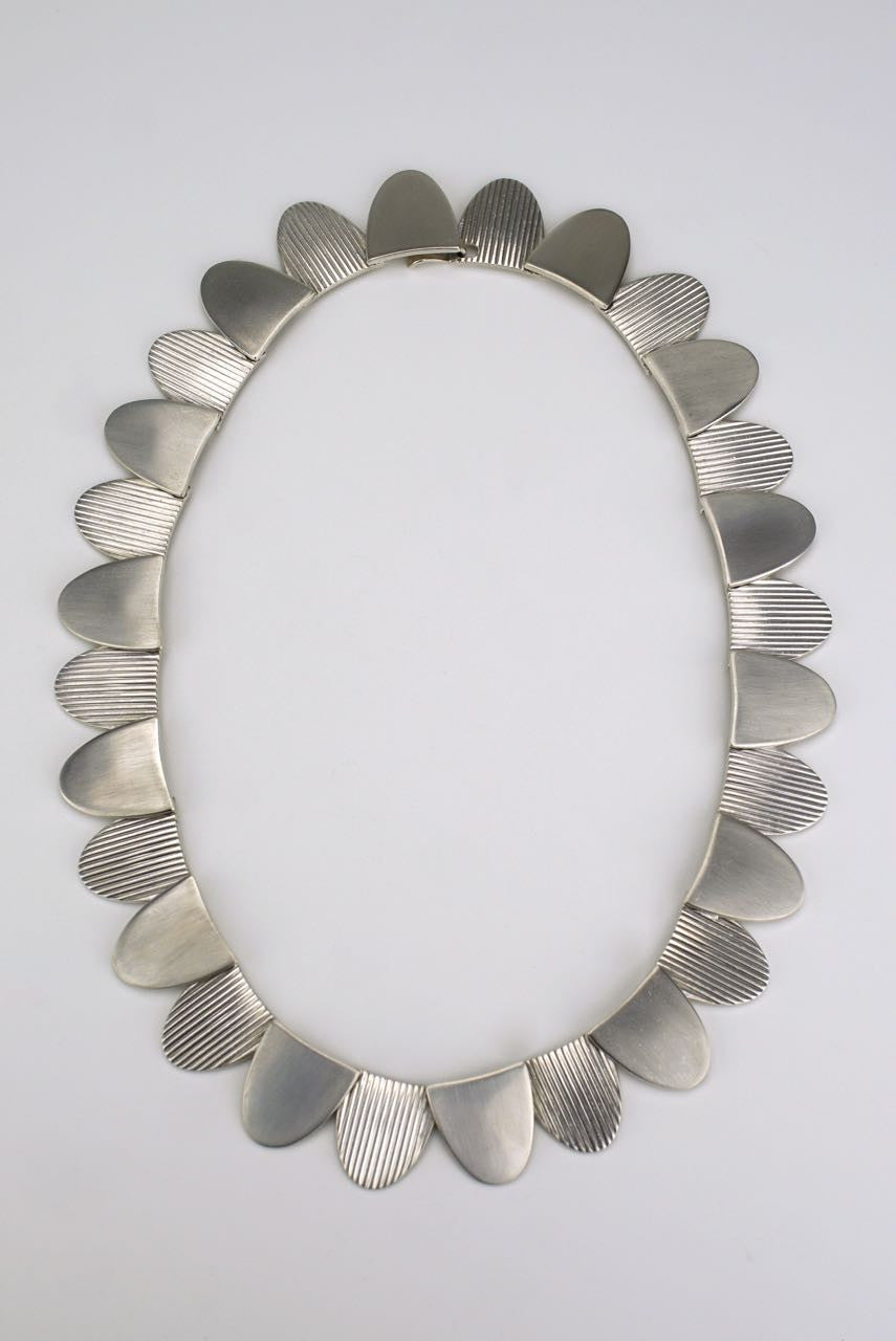 Hans Hansen silver petal necklace