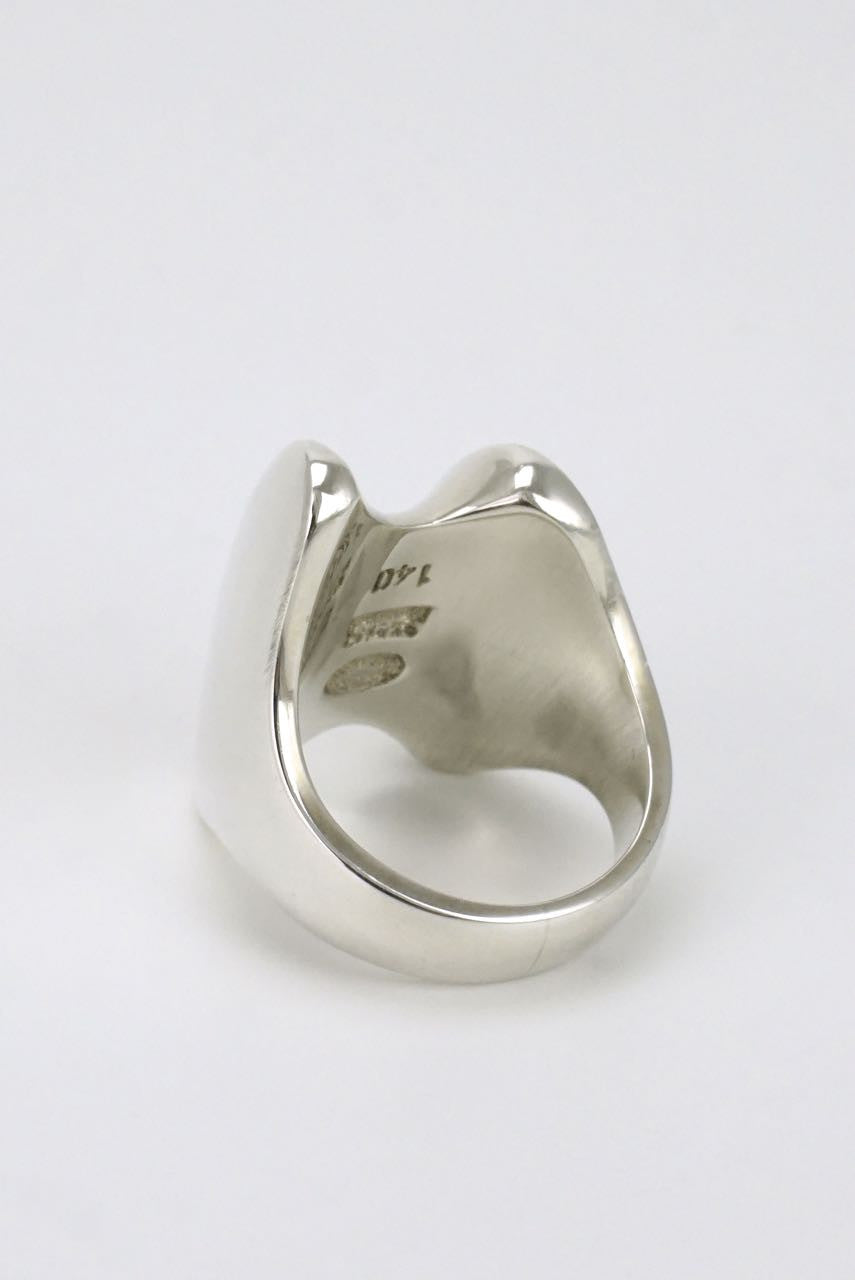 Georg Jensen silver double ridge ring 1970s - design 140 Henning Koppel