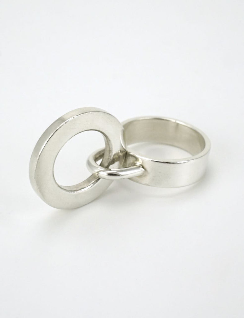 Hans Hansen silver loop ring 1960s