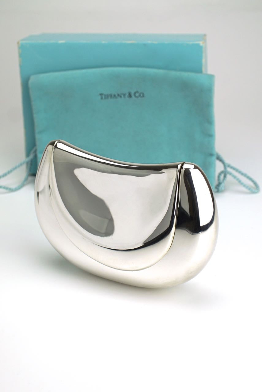 Elsa Peretti for Tiffany silver saddle bag clutch