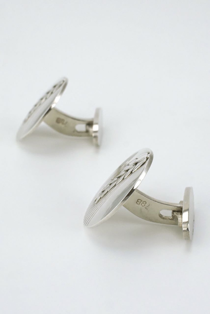 Georg Jensen silver wheat motif cufflinks - design 78B