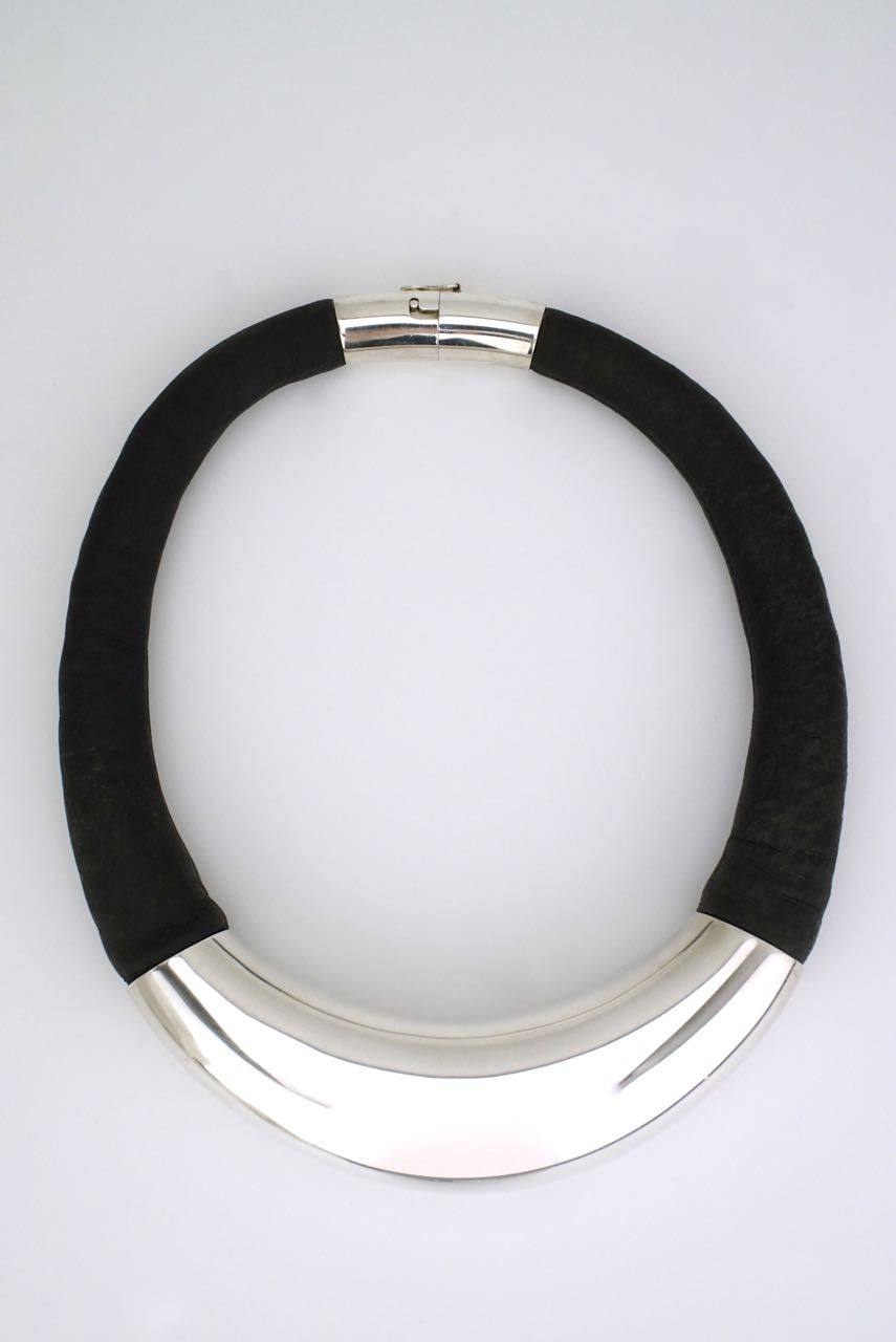 Hans Hansen silver and leather necklace