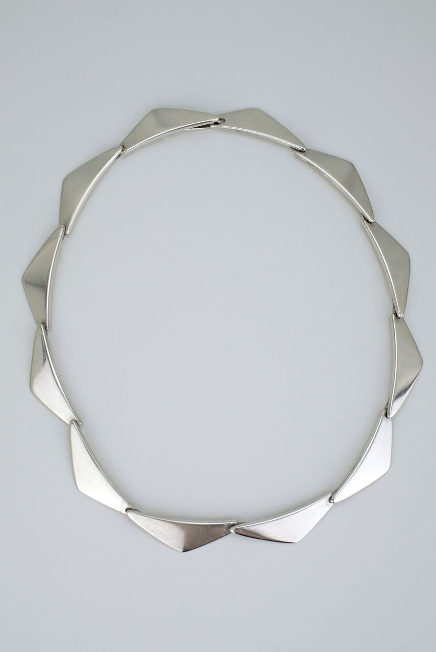 Hans Hansen silver peak necklace