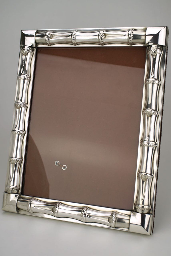 1960s Gucci Silver Bamboo Motif Photo Frame