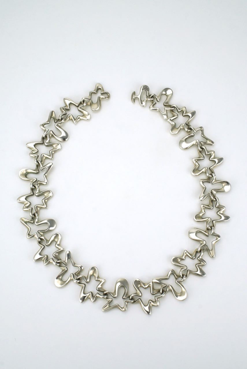 Georg Jensen silver splash necklace - design 88B Henning Koppel