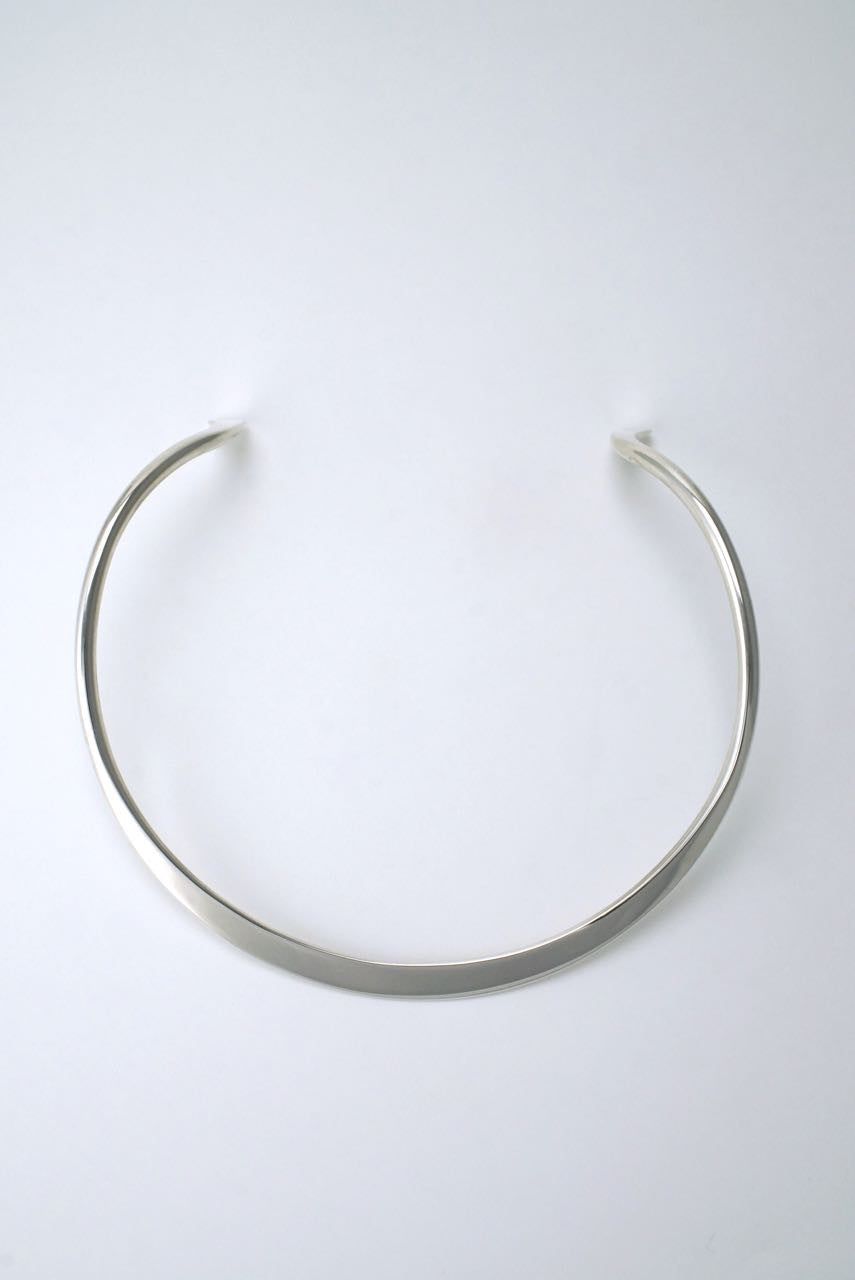 Georg Jensen silver amorphic neckring necklace - design A10