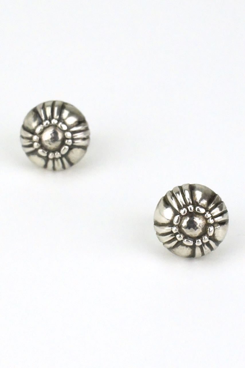 Georg Jensen silver closed bud stud earrings - design 319