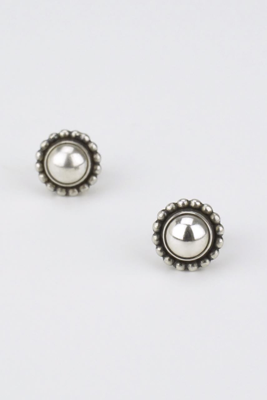 Georg Jensen silver half ball stud earrings - design 9